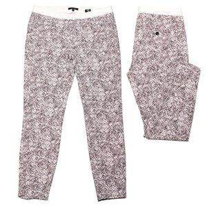 RW&CO Skinny Pants Stretch Ankle Crop Mid Pink